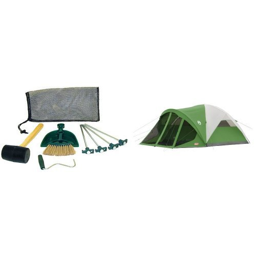 Coleman Tent Kit and Coleman Evanston 6 Screened Tent Bundle