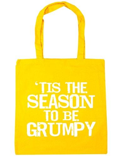 HippoWarehouse tis The Season to be grumpy Tote Compras Bolsa de playa 42cm x38cm, 10litros amarillo