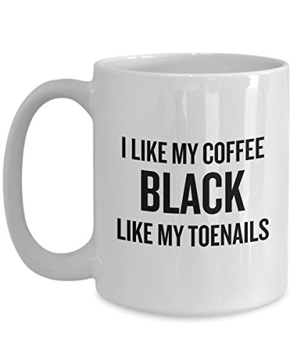Funny Running Coffee Mug - Runner Gift Idea - Funny Present For Runner - Black Like My Toenails (Ideas Runners $25 For Gift Under)