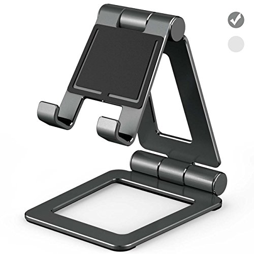 Doboli Cell Phone Stand Tablet Stand adjustable Foldable aluminum Holder for iphone X 8 7 6 6S/plus /5 5C Samsung Galaxy S8 / S7 / S6 / Note6 IPAD mini / pro / Air / Air 2 Kindle fire