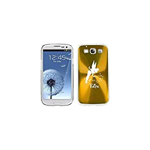 Yellow Gold Samsung Galaxy S III S3 Aluminum Plated Hard Back Case Cover K381 Fairy Faith