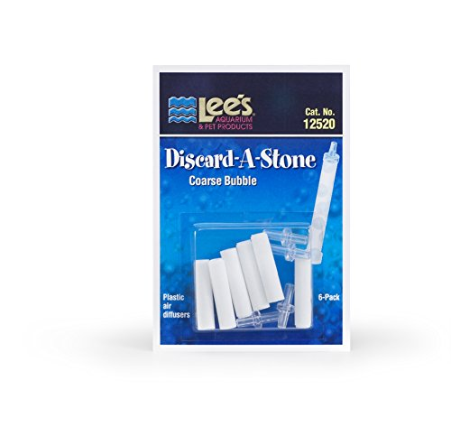 Lee's Pet Products ALE12520 6-Pack Discard a Stone Disposable Air Diffuser for Aquarium Pump, Coarse