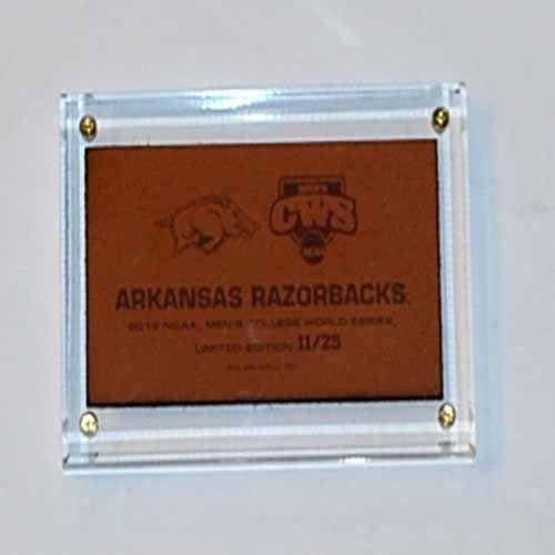 Pro Graphs Arkansas Razorbacks 2012 College World Series Limited Edition Leather Plaque ()