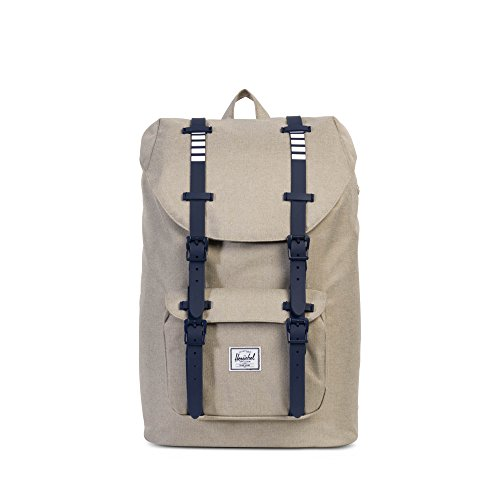 Herschel Supply Co. Little America Mid-Volume, Light Khaki Crosshatch/Peacoat Rubber/White Inset