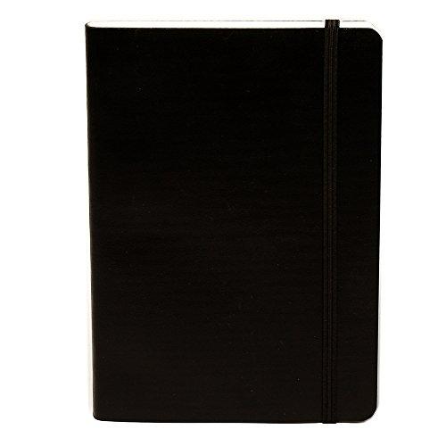 Miquelrius Flexible Handmade Leather Journal, 200 Graph Sheets/400 Pages, Black (4.5 x 6) (Black) by Miquelrius