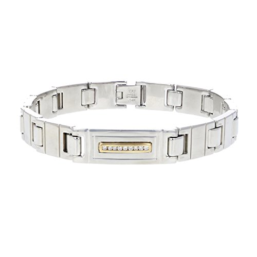 Vir Jewels Men's 0.14 CT Diamond Bracelet 9 Inches in Sta...