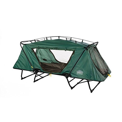 Kamprite DTC-443 Tri-Fold Oversize Tent-cot with Rainfly, Includes Carry Bag, Green by Kamp-Rite by Kamp-Rite (Image #1)