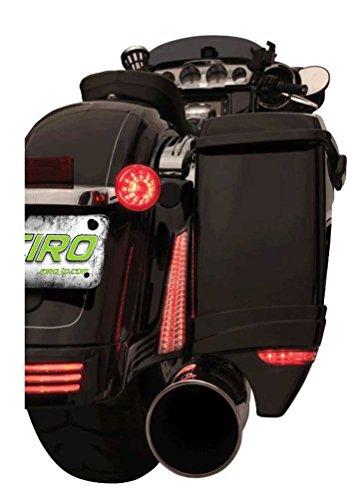 Ciro LED Filler Panel Lights '14-up Harley Street Glide & Road Glide 40023 - Filler Panel Black