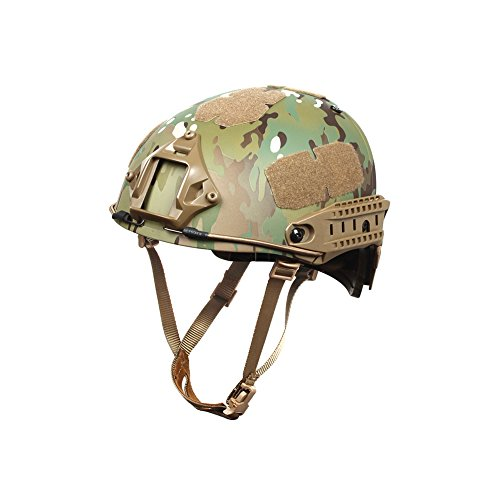 Outry Tactical Fast Helmet, Adjustable ABS Helmet with Side Rails and NVG Mount, Fast Ballistic Helmet for Airsoft Paintball Hunting Shooting Outdoor Sports (Multicam/CP)