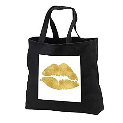 3dRose Anne Marie Baugh - Illustrations - Gold Lips Illustration - Tote Bags well-wreapped