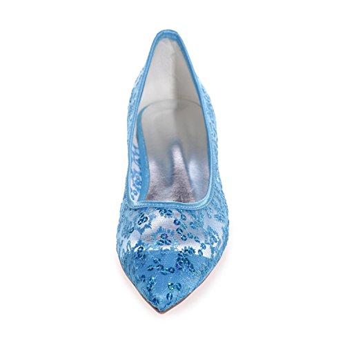 2046 Ruban Femme L Escarpins blue Escarpins Bout Toe YC Dentelle Fermé Pompe 18 qfR5P