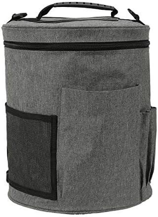 Wallfire かぎ針編みツール ソーイングキット 糸収納バッグ ミシンバッグ 多機能大容量オックスフォード布旅行ポータブル収納袋 ミシンツール