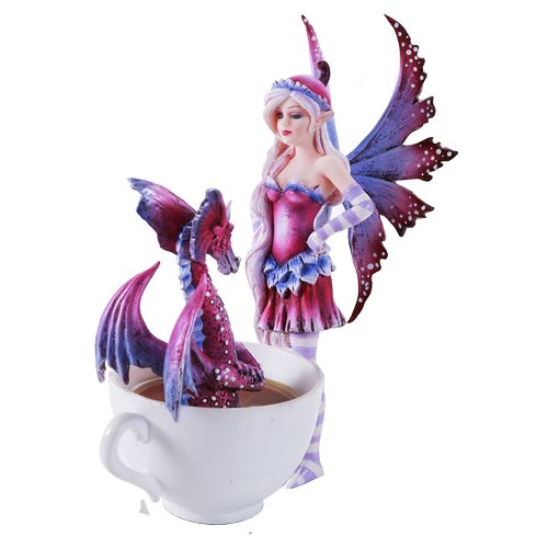 Amy Brown Get Out of My Tub Cup Fairy Dragon Fantasy Art Figurine Collectible 6.25 (Fantasy Fairy Art)