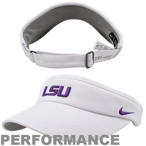 Nike LSU Coaches Sideline Visor White