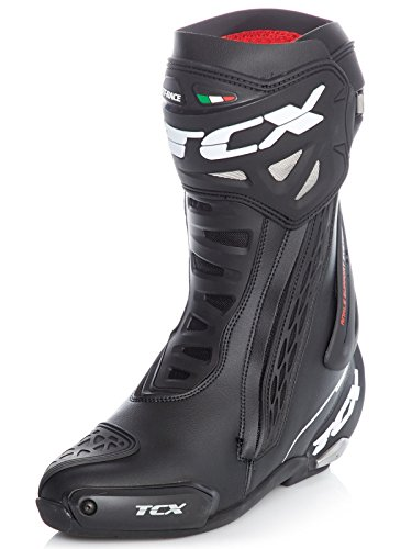 TCX RT Race Men's Street Motorcycle Boots - Black / 42