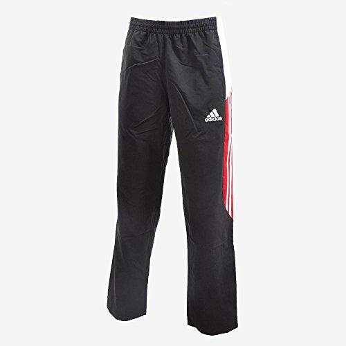 ちょうつがい透明にどう?adidas(アディダス) 別注 トラックパンツ サッカートレーニングウェア D83247 BLK×RED XO