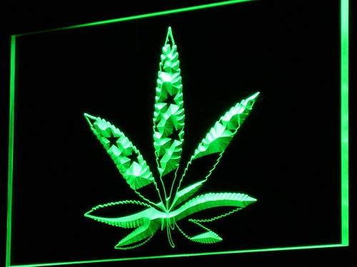 ADVPRO Cartel Luminoso i768-g Marijuana Hemp Leaf US Flag ...