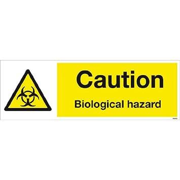 Precaución riesgo biológico chapa impresión de alta calidad ...