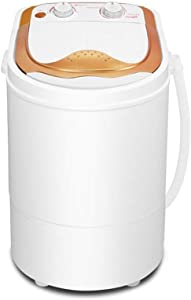 LHF Portable Mini Compact Washing Machine, Single Tub Washer and Spinner Dryer for Dorms Apartments College Rooms Camping Washing Capacity 2kg (Color : Yellow)