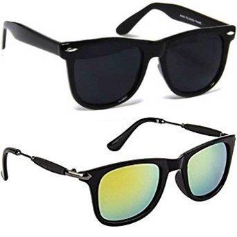 c613401185 Image Unavailable. Image not available for. Colour  Sheomy Wayfarer  Sunglasses Combo (Blue) (Sun-00073)