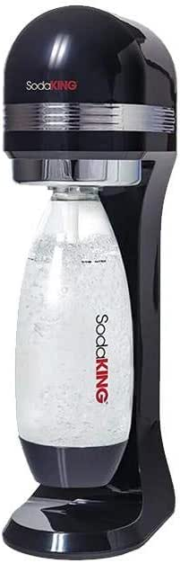 SodaKing Classic Sparkling Soda Water Machine Drink Maker w/2x 1L Bottle - Black
