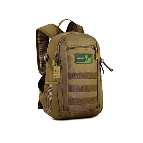 SUNVP 12L Mini Daypack Military MOLLE Backpack Rucksack Gear Tactical Assault Pack Student School Bag for Hunting Camping Trekking Travel ()