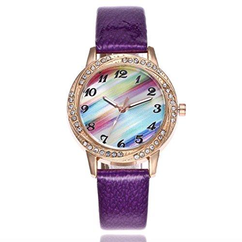 FAPIZI Gift Watch Women Fashion Leather Band Analog Quartz Round Wrist Watch Watches