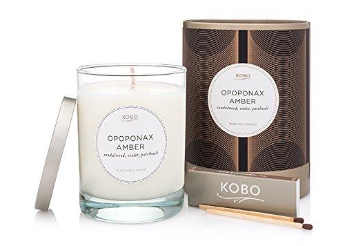 Kobo Candles Kobo Soy Candle, Opoponax Amber (Opoponax Candle)