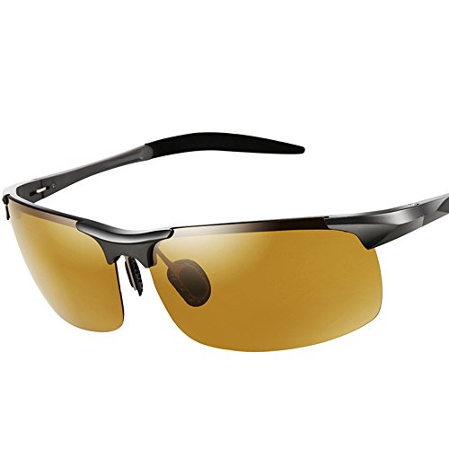 MOTELAN Men's Photochromic Polarized UV400 Sunglasses for Outdoor Fishing Golf Beach Baseball Sports - Sunglasses Motorcycle Photochromic