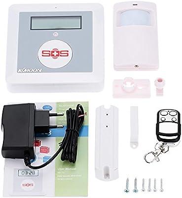 KKmoon K3 - Alarma Inalámbrica GSM SMS Pantalla LCD SOS con Sensor ...