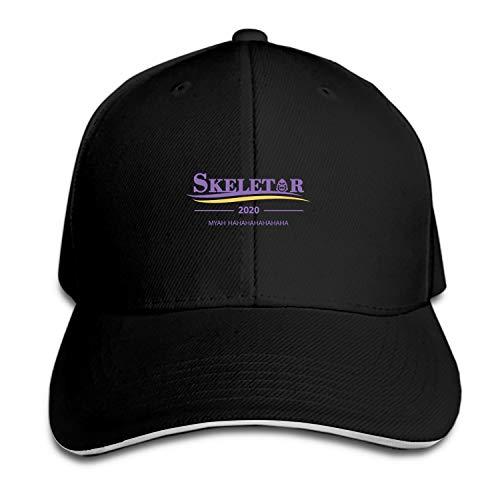 EIGTU Unisex Skeletor for President Cotton Denim Dad Hat Adjustable Plain Cap -