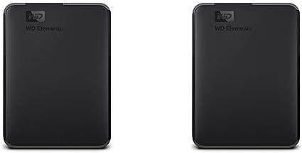 【セット買い】WD HDD ポータブルハードディスク 4TB WD Elements Portable WDBU6Y0040BBK-WESN USB3.0/2年保証 & HDD ポータブルハードディスク ブラック 2TB WD Elements Portable WDBU6Y0020BBK-WESN USB3.0