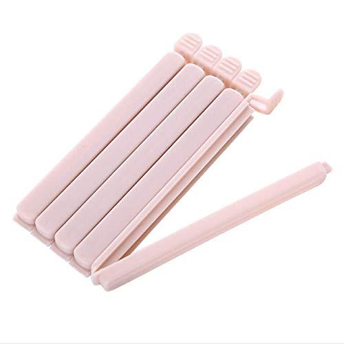 Ladud MFJ/_2 Paquete de 5 refrigerios Clips Alimentos sellados(Rosa Grandes) One Size Unisex-Adult