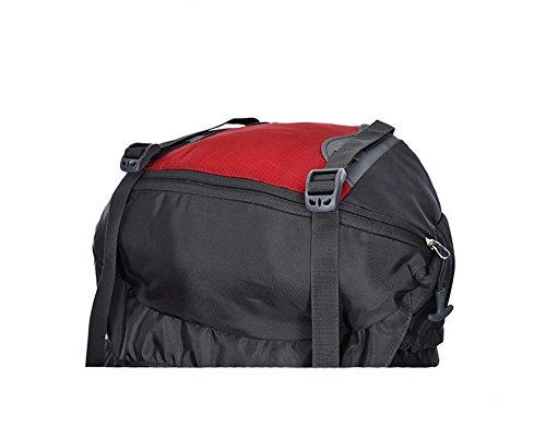 80L Mujeres Profesionales de los hombres grandes de la mochila del hombro de nylon impermeable de la mochila , orange Black