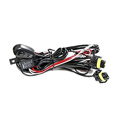 Winjet Universal Wiring Harness Include Switch Kit Car Auto Fog Lights Lamp Wire LED Off Road Wiring Kit 130W 40 Amp Relay: Automotive