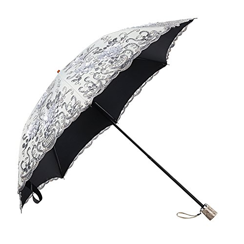 Molshine Retro Portable Parasol,Hand-Embroidered Foldable Umbrella,UV Protection by molshine