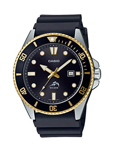 Casio Men's Analog Quartz Watch with Resin Strap MDV-106G-1AVCF