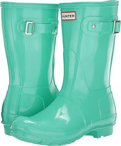 Hunter Women's Original Short Gloss Rain Boots Ocean Swell 7 M US -