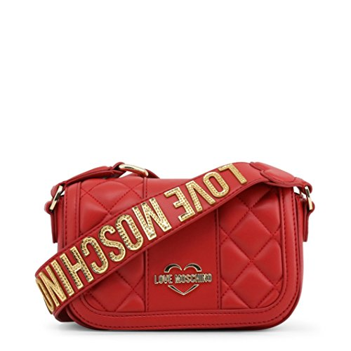 Leather Cross Moschino Akita Body Small Love Red Red Quilted Bag zvXAqw