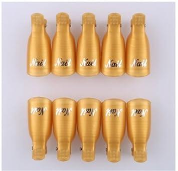 josep.h Lot de 10 clips pour retirer le vernis à ongles gel UV outil de Wrap, plastique/acrylique professionnel Résurrection Nail Clip Outils kit de manucure Nail Art