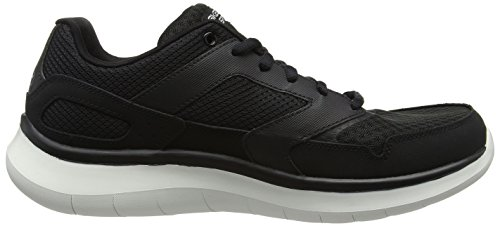 Baskets Flex Noir Blanc Hommes hudzick Skechers Quantum noir Pour dSwdEf