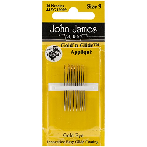 Colonial Needle Gold'n Glide Applique Hand Needles, Size 9, ()