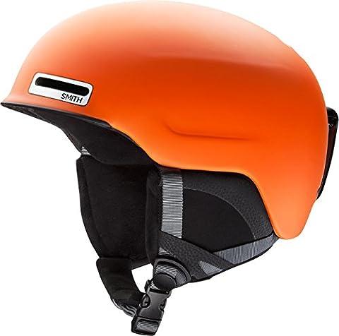 Smith Optics Unisex Adult Maze Snow Sports Helmet - Matte Orange Small (51-55CM) - Smith Maze Audio