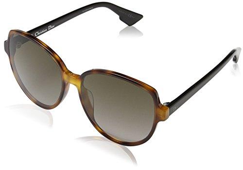 - Christian Dior Dioronde2 5FCHA Dark Havana Black Dioronde2 Round Sunglasses Len