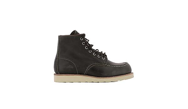 Red Wing Shoes - Botas para Hombre Negro Negro IT - Marke Größe, Color Negro, Talla 41 IT - Marke Größe 8: Amazon.es: Zapatos y complementos