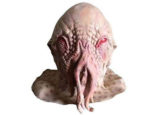 Naray Latex Ood Octopus Head Doctor Who Mask -