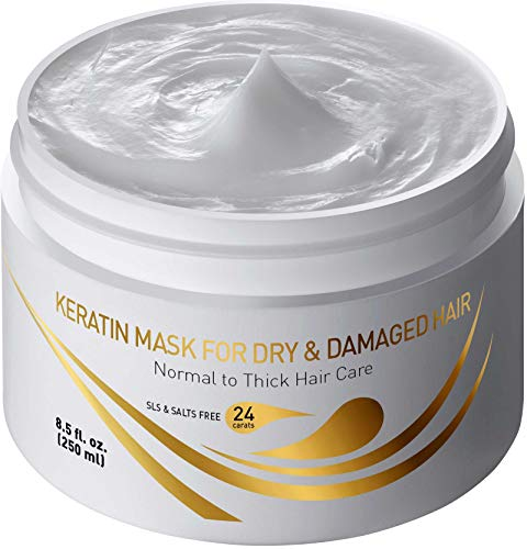 Vitamins Hair Mask Repair Treatment - Thick Coarse Dry and Damaged Hair Deep Conditioner Protein Masque with Argan and Keratin Deep Conditioning (Best Treatment For Dry Hair Ends)