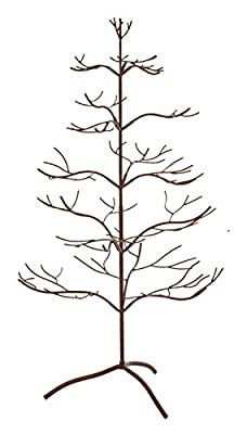 """Ornament Tree Christmas Décor/ Jewelry and Accessory Display in Mahogany Finish - 36""""h"""