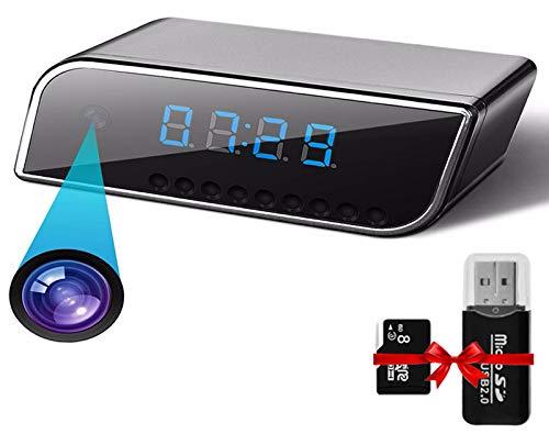 Hidden Spy Camera Clock - JJGS WiFi Spy Camera Wireless Hidden Security Camera, HD 1080P, Hidden Cam, with Night Vision,140 Ultra Wide Angle,Motion Detection