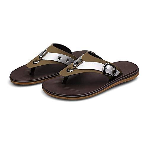 De Verano De Playa Sandalias Ocasional LYZGF Moda Hombres Zapatillas Khaki De Espiga De Juvenil YqnT8H6